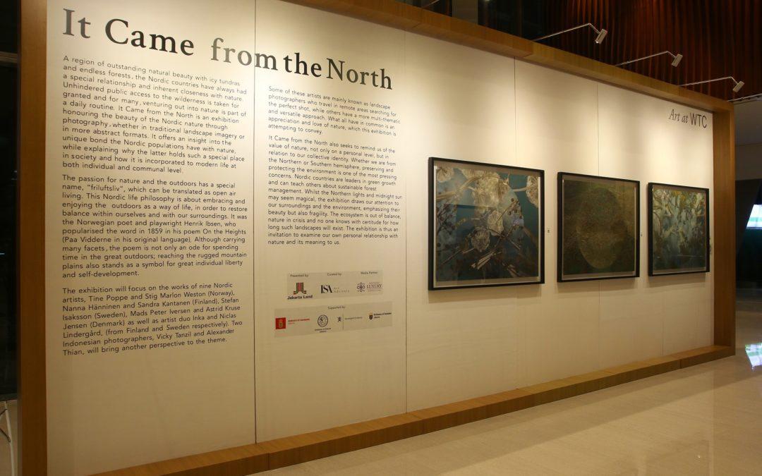 It Came from the North Sebuah pameran seni fotografi negara-negara Nordik persembahan ISA Art Advisory diadakan di Lobi WTC 2 Jakarta