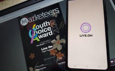 Live.On Mencuri Hati Anak Muda dengan Memenangkan Penghargaan Marketeer's Youth's Choice Awards 2020